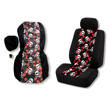 Car Seat Covers Skull Printing Pattern Auto Cover For Toyota Volkswagen BMW Protector Decor Fashion