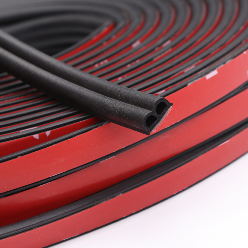 Car Stickers B Type Car Door Seal Strips Noise Weatherstrip Rubber Insulation Windproof For Door Edge Head Front Cover Trunk 3