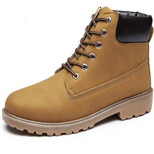 цены Faux Suede Leather Men Boots Spring Autumn And Winter Man Shoes Ankle Boot Men's Snow Shoe Work Plus Size 36-46