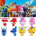 1 pcs Super Wings Mini Air Plane Action Figures Super Wing Transformation Robot Figures Cute Cartoon Model Kid Gift Toy