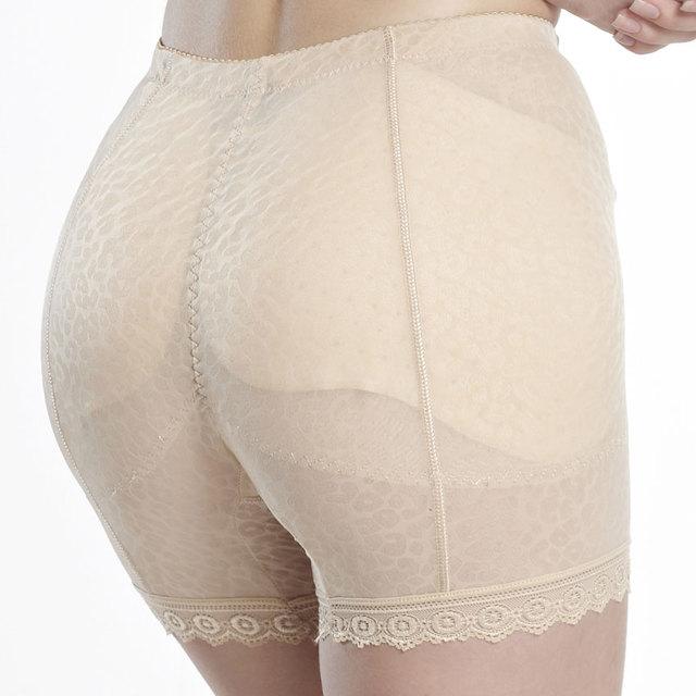 4XL plus size removível almofadas de bunda levantador do calcinha boxer quadril falso de calças de fundo elevador bunda calcinha