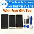 Для Huawei P9 Lite ЖК-Дисплей С Сенсорным Экраном 100% Новый замена Аксессуар Для Huawei P9 Lite FHD 5.2 Дюймов Мобильный телефон