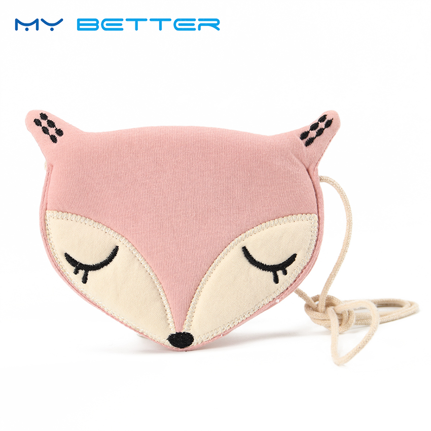 Lovely Fox Children One Shoulder Bag Coin Purse Cute Girls Messenger Bag Baby Accessories an Ideal Gift for Children Day girls mini messenger bag cute plush cartoon kids baby small coin purses lovely baby children handbags kids shoulder bags bolsa