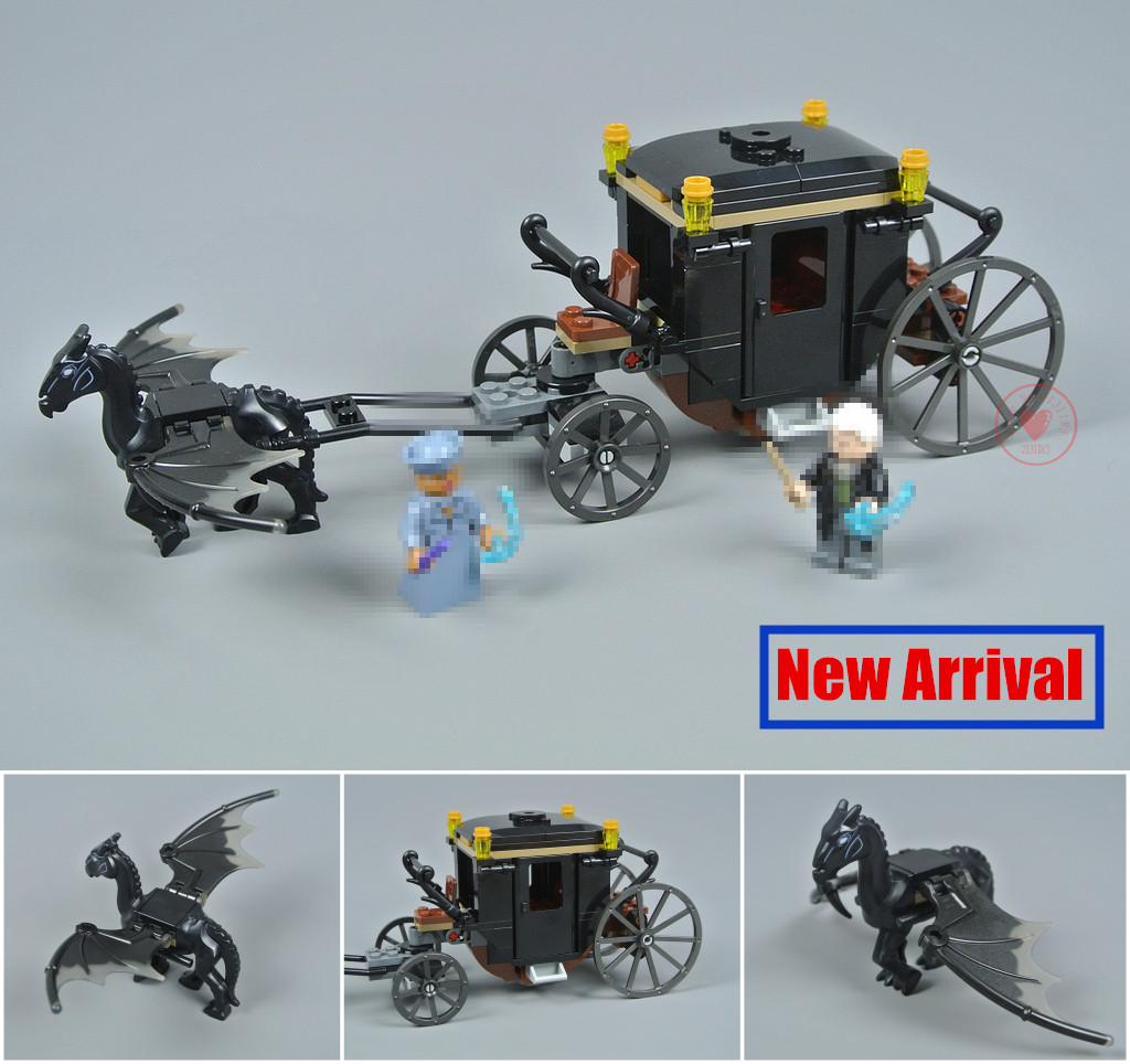 New Harry Potter Grindelwald`s Escape fit legoings Fantastic Beasts figures city Building Blocks bricks House Kid Toy 75951 Gift