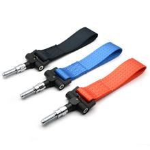 Универсальный Гоночный буксировочный ремень буксировочный крюк веревка для BMW Европейский автомобиль авто прицеп кольцо синий/красный/черный