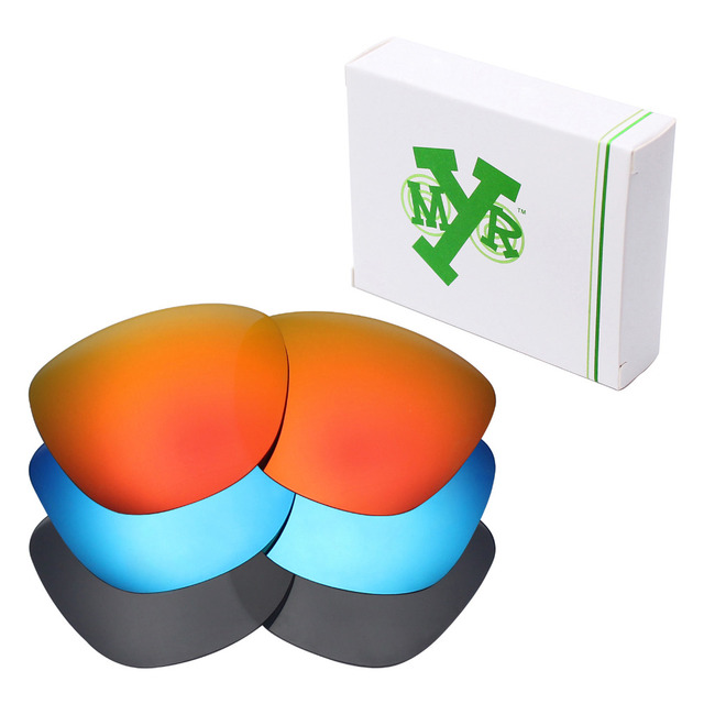 c51aff4c84 3 Pairs Mryok Anti-Scratch POLARIZED Replacement Lenses for Oakley  Frogskins Sunglasses Stealth Black   Ice Blue   Fire Red