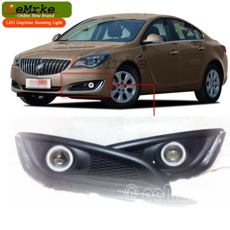 eeMrke FOR Opel / Vauxhall Insignia CCFL Angel Eye DRL Daytime Running Lights Tagfahrlicht Halogen-Bulbs-H11-55W Fog Lamp Kits eemrke led angel eye drl for mazda 6 2003 2008 daytime running lights h11 55w halogen fog light lamp kits