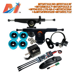 Maytechfully electronic skateboards kits with 6355 170kv waterproof motor, latest SuperEsc based on vesc with truck and puly