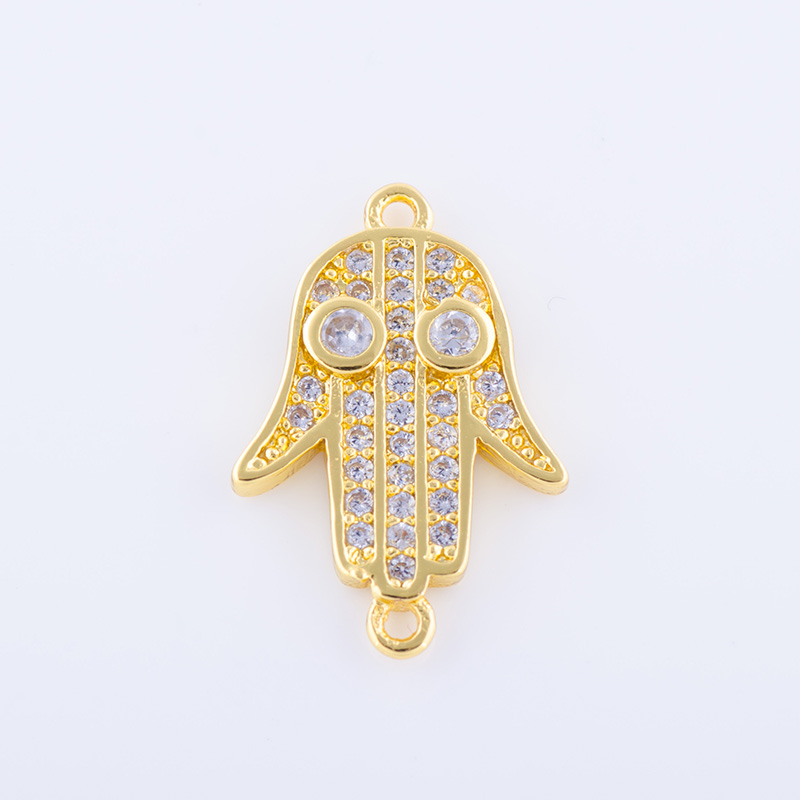 Rose GoldSilverGold Fatima Hamsa Hand Evil Eye Connectors fit