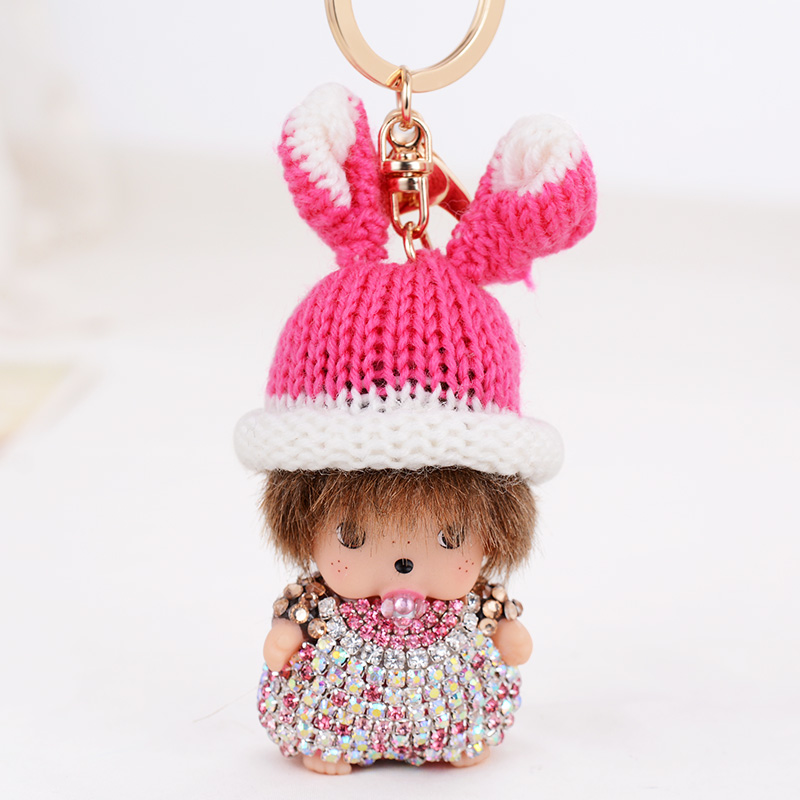 Jewelry Sets & More Key Chains Honesty Small Size Crystal Metal Cat Keychain Novelty Souvenir Gifts Couple Key Chain Key Ring Hangbag Charms Pendant Chaveiros Carro