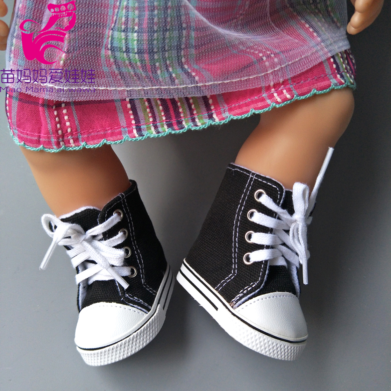7cm Doll boots Fits 18 inch grils Doll Shoes Canvas boots for Baby born Doll shoes mini toys