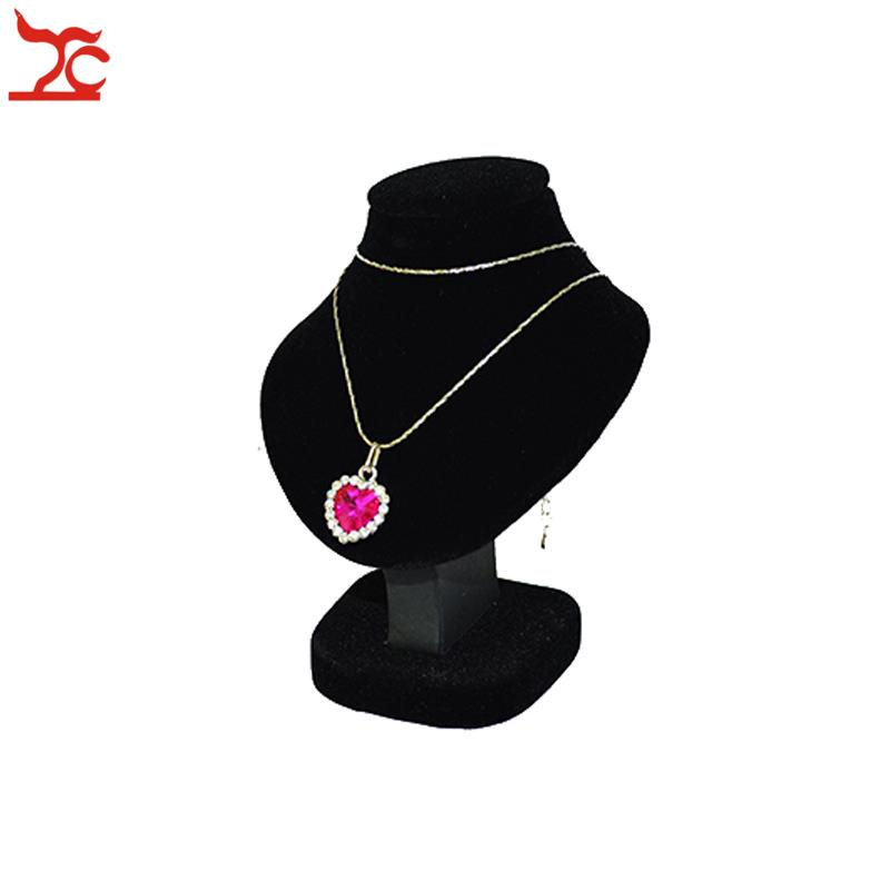 2-15 Hook White Leather Necklace Pendant Multi Chain Jewelry Counter-Top Display