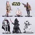 6pcs/set NEW hot 6-11cm MODEL FANS New Play arts Star Wars Storm White Soldiers Bulk Star Wars Variant Play Arts WJ359
