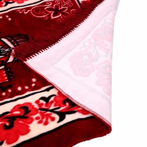 Image 5 - Muslim Prayer Rug Velvet Thick Classic Salat Islamic Moroccan Braided Mats Blue Red Purple 124*68CM