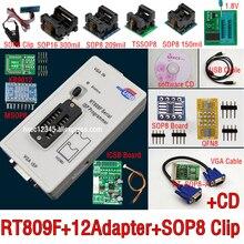 オリジナル RT809F プログラマ + 12 アダプタ + sop8 IC クリップ + CD + 1.8 V/SOP8 アダプタ VGA 液晶 isp プログラマアダプタユニバーサルプログラマ