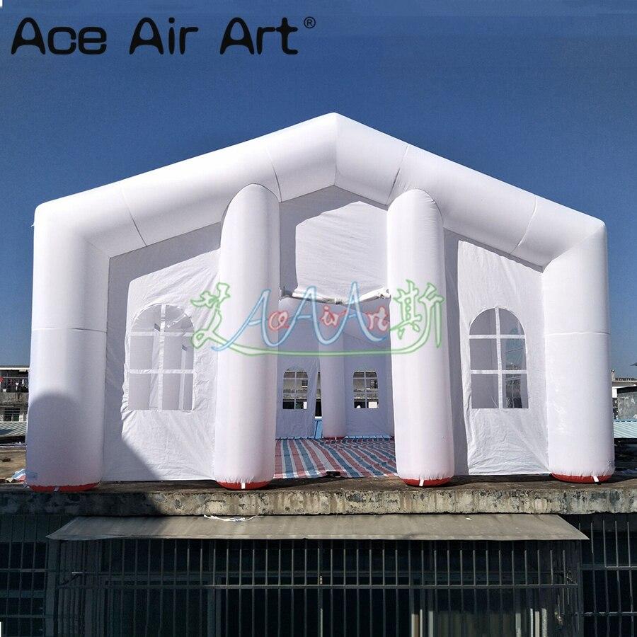 10X6 m nouveauté gonflable mariage événement fête tente gonflable mariage tunnel auvent maison avec ventilateur et livraison gratuite