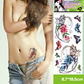 2 Unids/lote 3D Mariposa Colorida Lotus Sexy Tatuajes Temporales A Prueba de agua Pegatinas Tatuaje Mujeres Sexy Encantador Diseño Tatuajes de La Manga