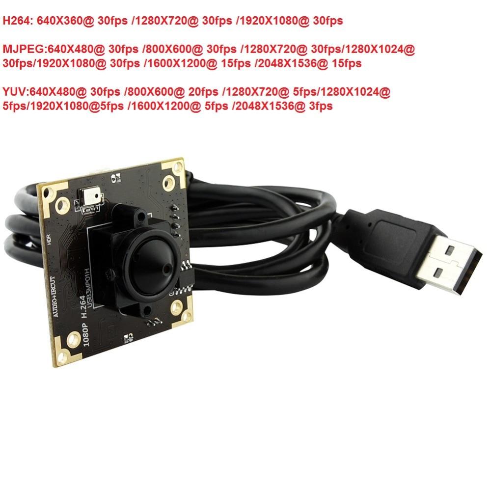 WDR camera 1080P H.264/MJPEG/YUY2 Aptina AR0331 3.7mm lens mini cctv low light 0.05 lux usb camera board for andorid, linux