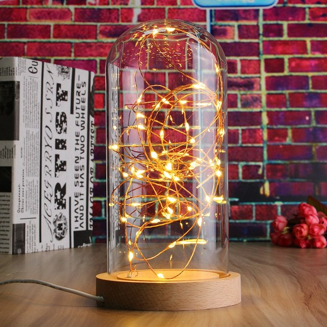 Led fairy string light usb powered wire desk table lamp night light led fairy string light usb powered wire desk table lamp night light wood base bedroom gift keyboard keysfo Choice Image