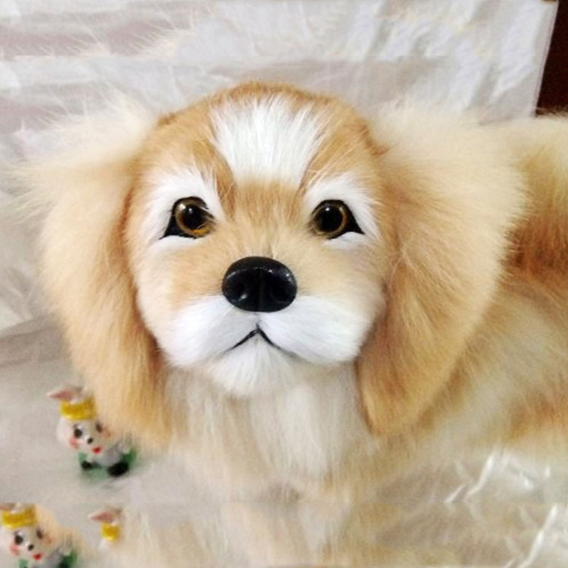 1pcs Cute Dog Figures Toys Action Figure Simulation Plush Animal Model For Home 1:1 Dog Gift Toys 10pcs bag toy bag small pet shop figures toys animal cat dog patrulla canina action figures kids toys gift