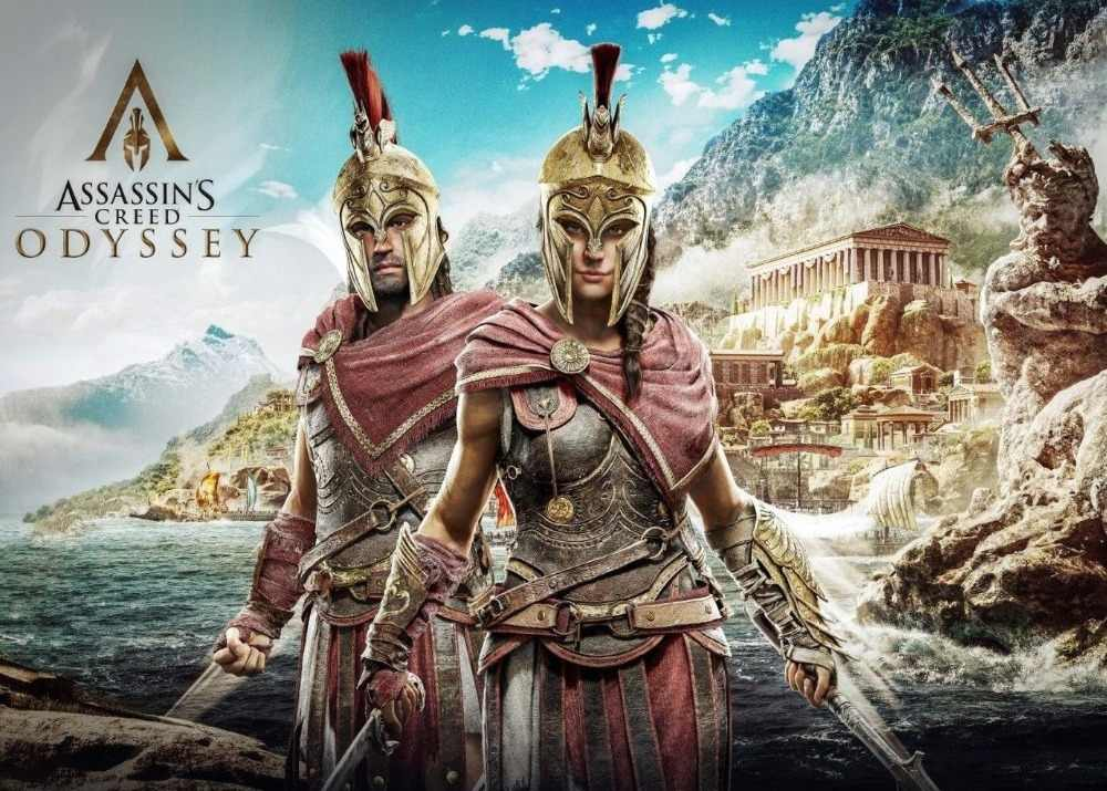 Assassins Creed Odyssey Silk Poster Wall Decor Room Painting 24x3inch Aliexpress