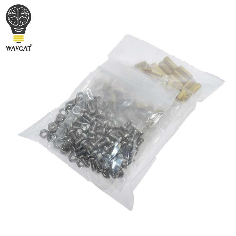WAVGAT M3 5/8/10/12mm PCB Hex mâle filetage femelle entretoises en laiton/vis/écrou hexagonal assortiment Kits avec sac en plastique