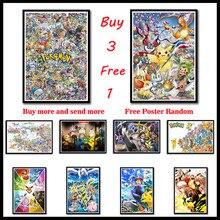 Pokemon Coated Paper Poster Print Pocket Monster Anime Picture for Living Room Wall Decoration Frameless