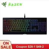 Razer Cynosa Chroma Membrane Gaming keyboard RGB Backlit Keyboard for Game Fully Programmable Keys 104 Keys Spill Resistant