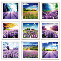 Needlework 5d Diamond Painting Landscape Lavender Embroidery Mosaic Pictures Patterns Tree Beads Icon Puzzle Picture Rhinestone