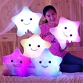 Creative Luminous Pillow, Colorful Noctilucent Led Light Star Plush Toys Pillow, Kawaii Cushion Pillow Valentine Birthday Gift