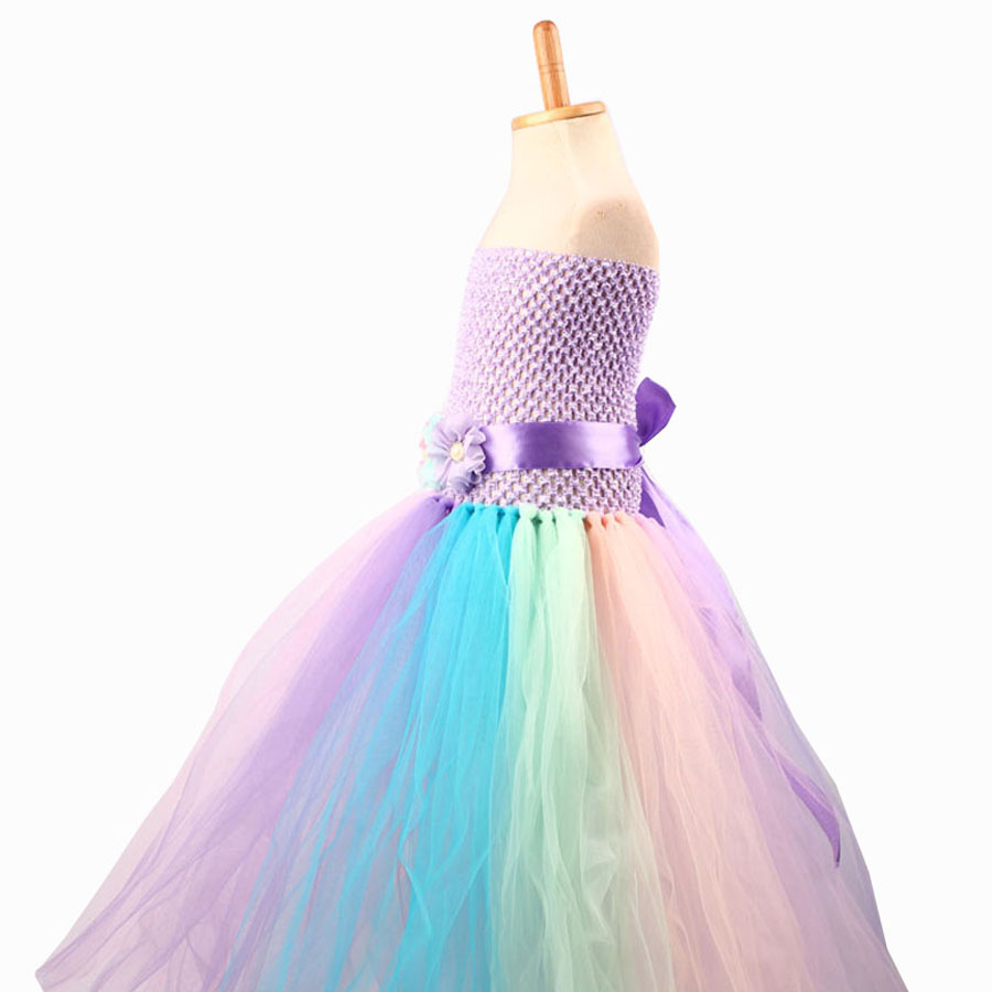 Baby Girl Flower Pony Unicorn Tutu Dress Extra Fluffy Kids Fairy Wedding Birthday Party Dresses with Hair Hoop for Cosplay (5)