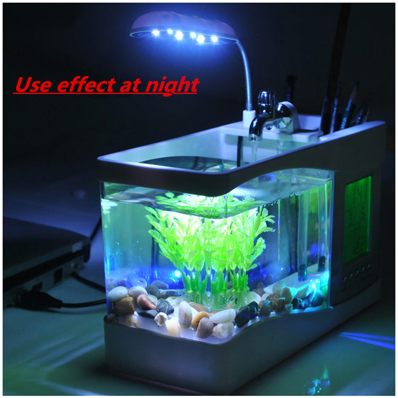 Buy beautiful holiday gift of birthday present office decoration small fish - Fish tank christmas decorations ...