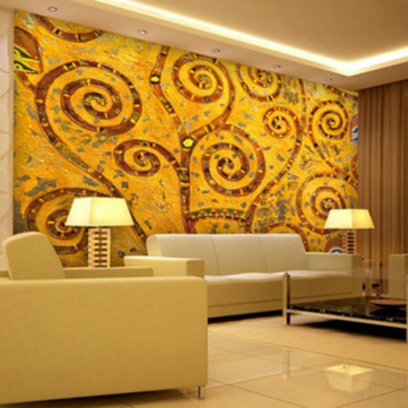 Us 1595 45 Offa Large Mural European Classic Golden Abstract Flower Background Wallpaper Bedroom Living Room Sofa Tv Personality Wallpaper In