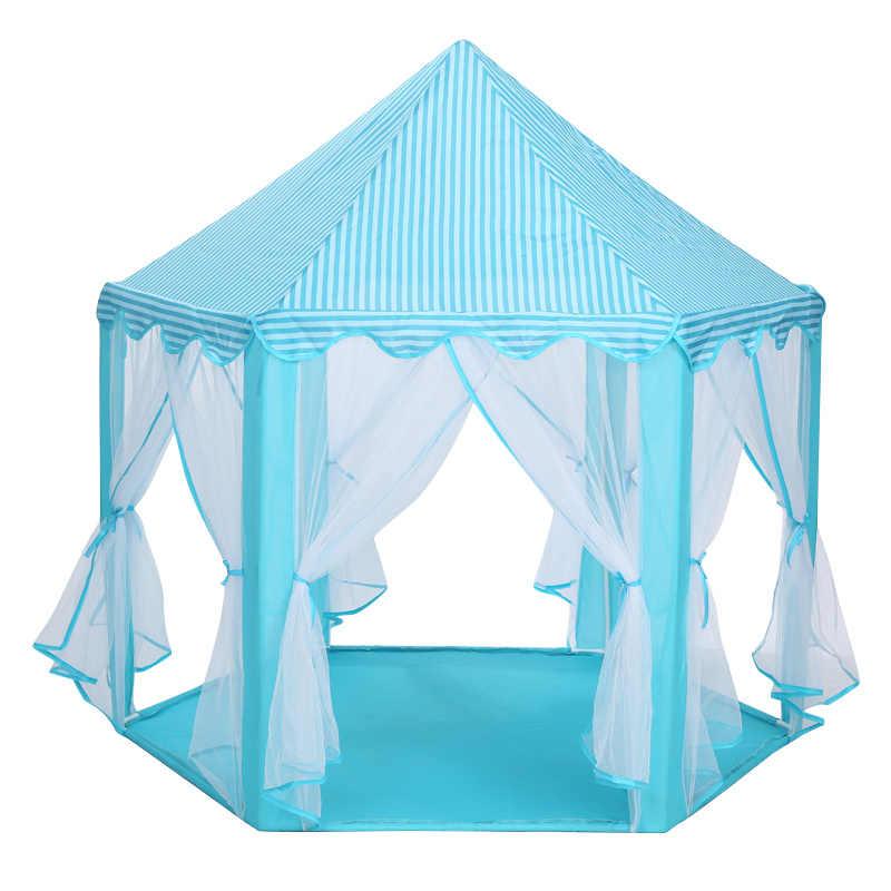 الطفل لعبة خيمة المحمولة للطي الأمير الأميرة خيمة الأطفال القلعة منزل اللعب طفل هدية في الهواء الطلق خيمة للشاطئ لعبة للأطفال الهدايا