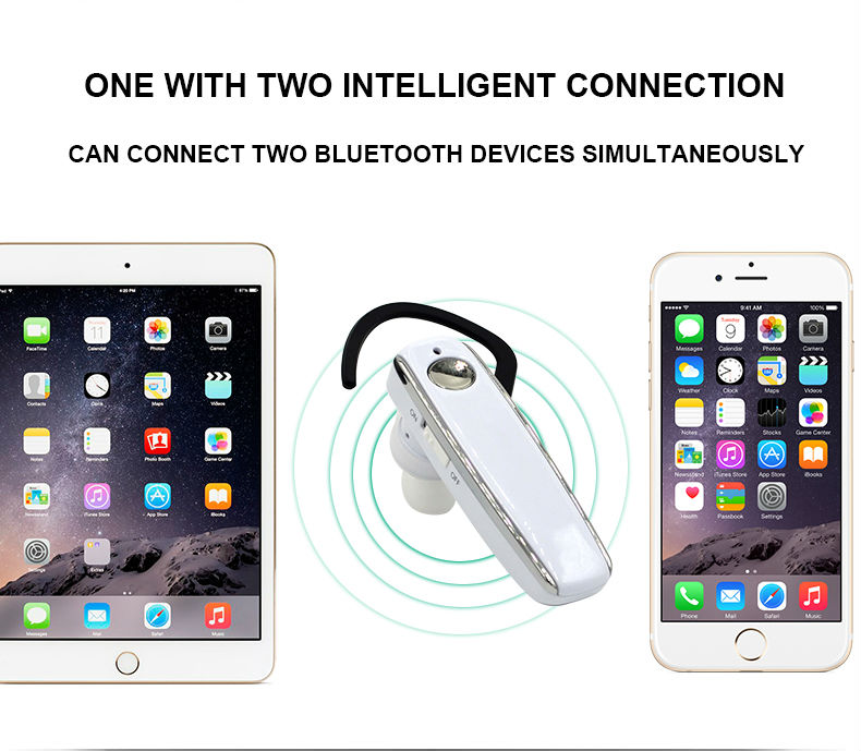 8 Long standby stereo music wireless Bluetooth headset dual microphone noise-canceling earphones and headphone Business headset