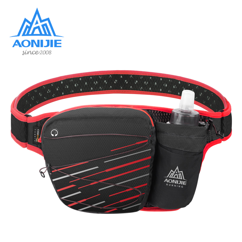 AONIJIE Marathon Jogging Cycling Running Hydration Belt Waist Bag Pouch Fanny Pack Cell Phone Holder W949 For 500ml Water Bottle