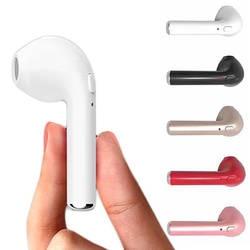 Bluetooth автомобильный комплект I7 в ухо автомобиль беспроводной Bluetooth Aux Наушники одиночные наушники гарнитура с микрофоном для Iphone мобильный