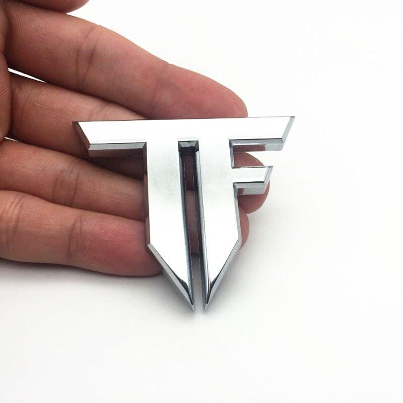 FDIK TF Car 3D Emblem Chrome Sticker Decal Badge Transformers Metal for Volkswagen bmw Ford Kia Toyota Honda car-styling