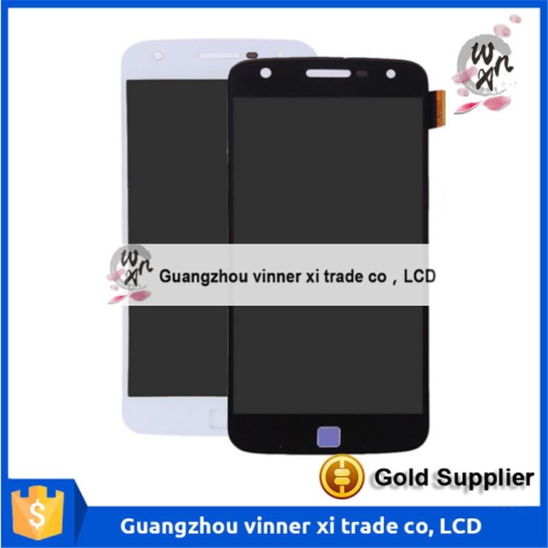 все цены на  100% Tested Original LCD Touch Screen Display Digitizer Repaire For Motorola MOTO Z Play Droid XT1635  онлайн