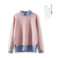 Winter Women Fashion Casual Long Sleeve Turn Down Collar Pullovers Tops Clothing Knitted Cashmere Sweaters Vintage
