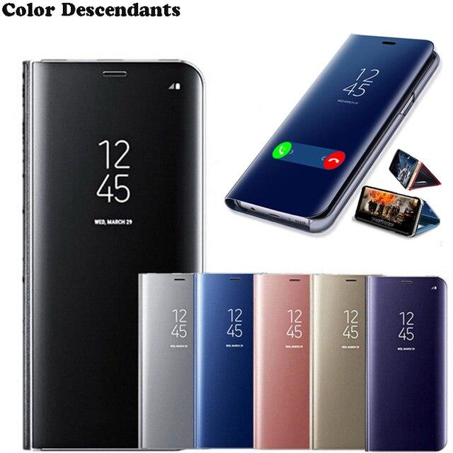 Gương Lật Dành Cho Huawei P8 P9 Lite 2017 P10 P20 P30 Pro Giao Phối 10 20 P Thông Minh 2019 Y5 y7 Y9 2018 Danh Dự 7C 8X Sang Trọng Vỏ Điện Thoại