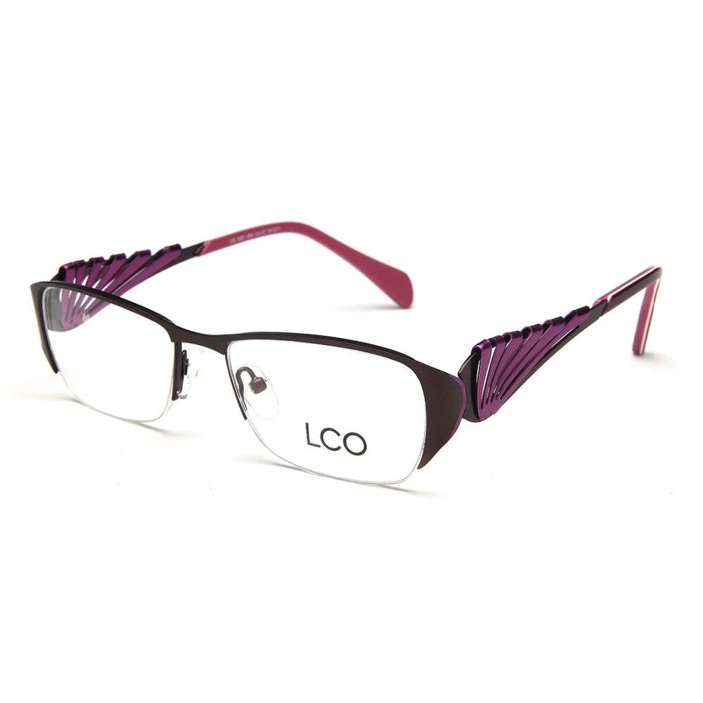 Laura Fairy Fashion dovezené brýle Vysoce kvalitní optické rámy na brýle z nerezové oceli Oculos Feminino 2016