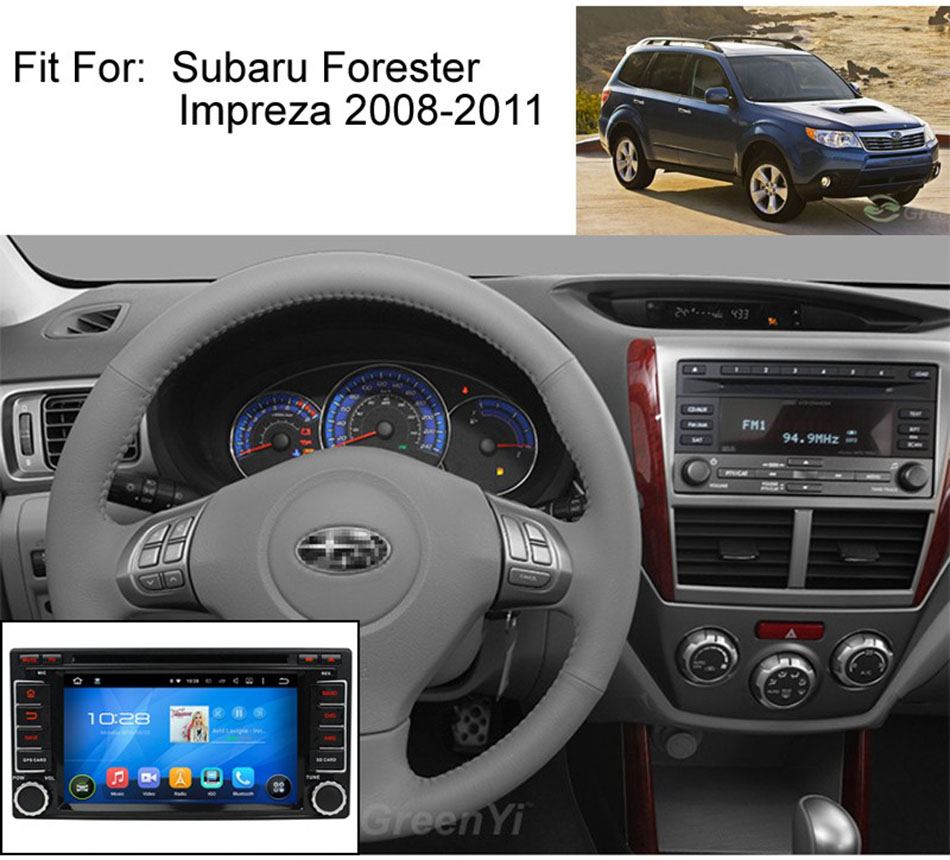 For Subaru Foresters Car Stereo Radio Refit Central Control Panel Surface Frame