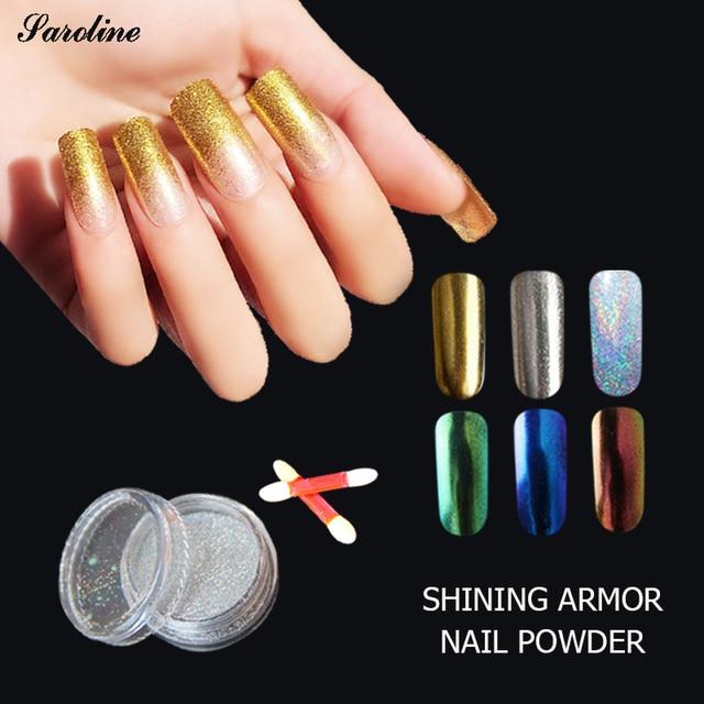 Verntion 3d Art Syrenka Efekt Paznokci Glitter Powder Lustro Chrome