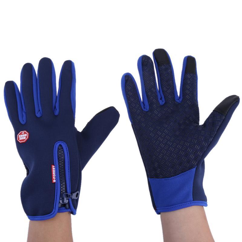 Fleece Riding Warm Gloves Outdoor Sports Riding Mittens Anti-slip Silicone Point Winter Warm Fleece Full Finger Skiing Gloves