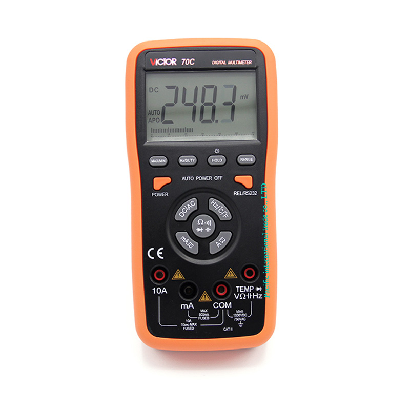Digital Multimeter  AC/DC VICTOR 70C Portable Handheld Multimeter Auto range capacitance 200uF Data Hold/Diode aimo m320 pocket meter auto range handheld digital multimeter