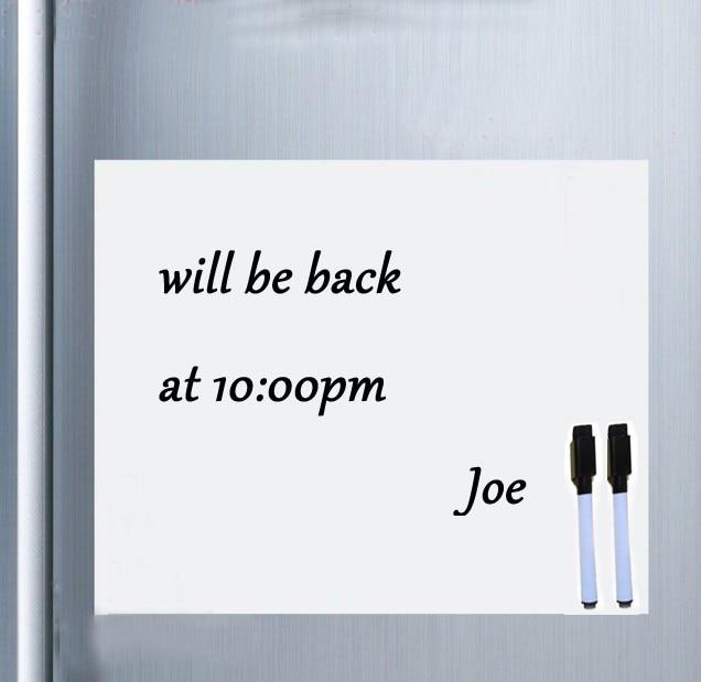 Soft Vinyl Fridge Magnet Magnetic Whiteboard Erasable Office Memo Pad Home Planner Message Board Organizer Notepad Marker Pen
