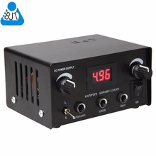 New IPOWER High Duty Digital DUAL Tattoo Power Supply Black LED Tattoo ink Power Supply box tattoo dual power supply