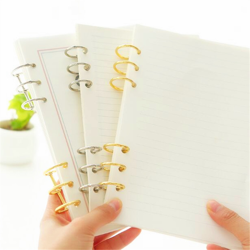 4Pcs/Lot Metal 3 Ring Binder Album Loose Leaf DIY Book