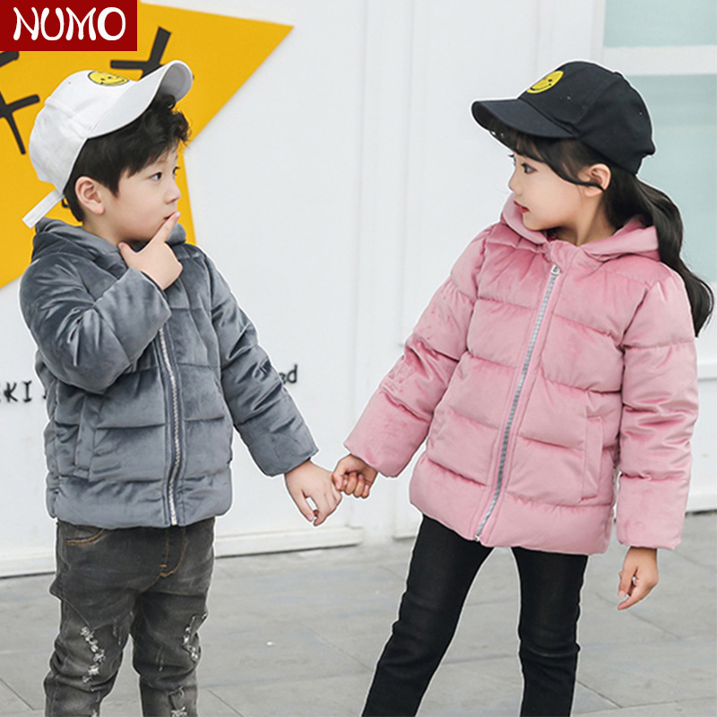Cotton padded Thicken Boys Girls Winter Jackets Warm Outerwear Kids Casual Thick Down Parkas for Baby Boys Child Winter Coats